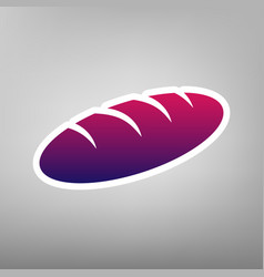 bread sign purple gradient icon on white vector image vector image