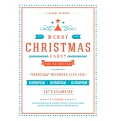 Christmas party invitation poster design vector image