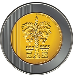 israeli coin 10 shekel vector image vector image