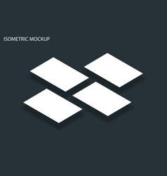 mockup in isometric projection with clean a4 vector image