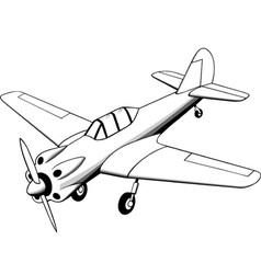 Propeller Air Plane vector image