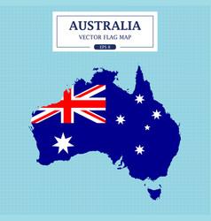 australia flag map vector image