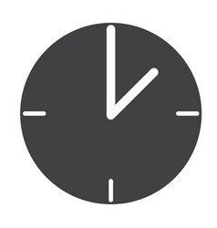 clock web icon flat design style clock sign vector image vector image