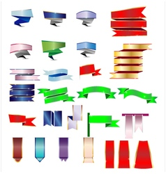 Colorful ribbon and banner vector image vector image