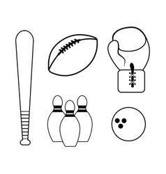 Figure diferents sport games icon vector