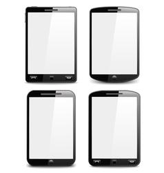 Modern Black Smart Phones vector image vector image