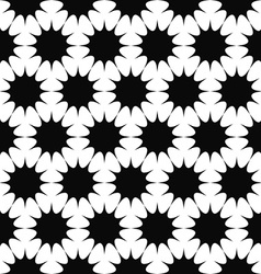 Repeating black and white star pattern vector image vector image
