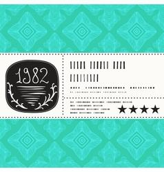 stylization of vintage label design vector image