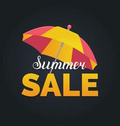 summer sale background season discount vector image vector image