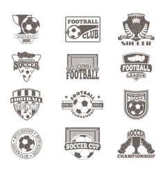 Football sign badge vector image vector image