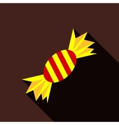 Halloween candy icon flat style vector image