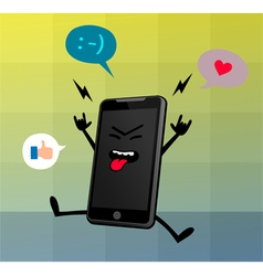 Happy Cute Smart Phone Character vector image vector image