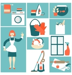 House work concept vector image