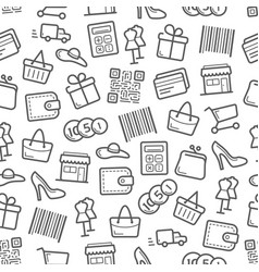 sale and shopping seamless pattern background vector image vector image