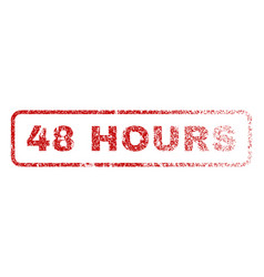 48 hours rubber stamp vector image vector image