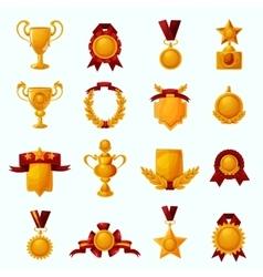 Awards Cartoon Set vector image