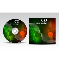 cd cover design vector image vector image