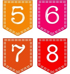 Fabric Pockets vector image