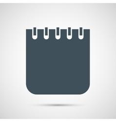 notebok isolated on white background vector image