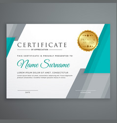 stylish certificate template design with vector image