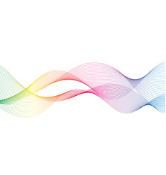 abstract wave of the many colored lines vector image
