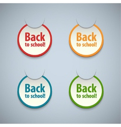 Back to school stickers set vector image