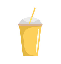 Banana smoothie icon flat style vector
