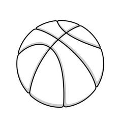 basketball outline symbol vector image