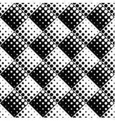 black and white abstract geometrical dot pattern vector image