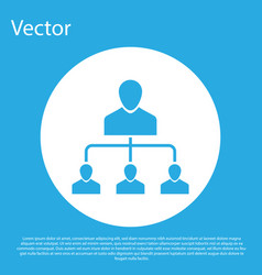 Blue referral marketing icon isolated on blue vector
