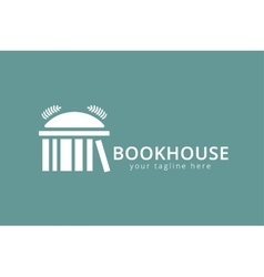 Book house template logo icon vector