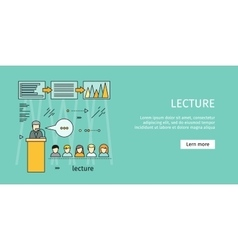 Business Lecture Banner vector