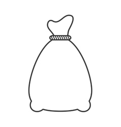 Canvas sack icon vector