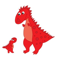 Cartoon Dinosaur with Baby vector image