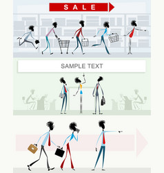 characters in different situations vector image