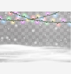 Christmas lights isolated vector