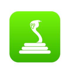 cobra icon digital green vector image