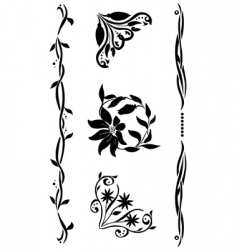 corner renaissance style set vector image