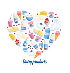dairy products banner vector image