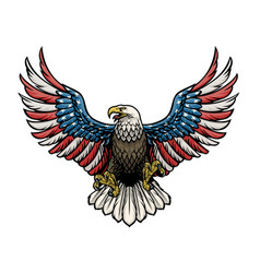 Eagle painted in american flag vector