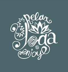 Enjoy yoga poster or postcard vector image