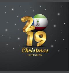 Equatorial guinea flag 2019 merry christmas vector
