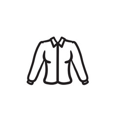 female blouse sketch icon vector image