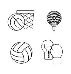 Figure sport game background icon vector