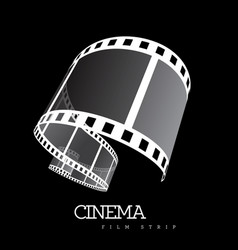 film strip on black vector image