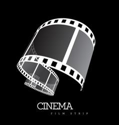 Film strip on black vector