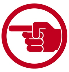 Finger pointing symbol vector