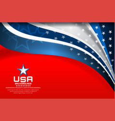 flag of usa background vector image