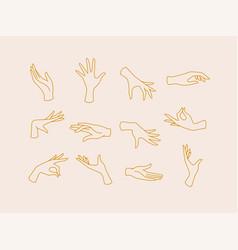 Flat hand beige vector