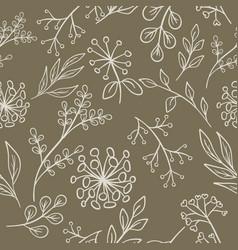 floral pattern grange seamless vector image
